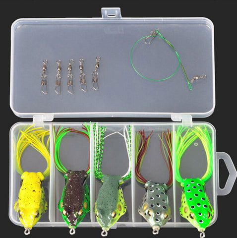 Mixed Colors Plastic Metal Bait Soft Lure Kit