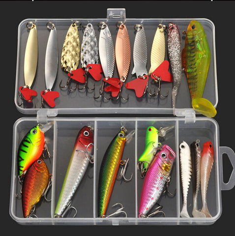 buy Plastic Metal Bait Soft Lure Kit