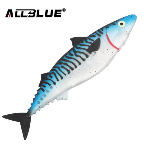 ALLBLUE Ocean Boat Fishing Lure 28cm Spanish Mackerel Big Game Rubber Soft Lure