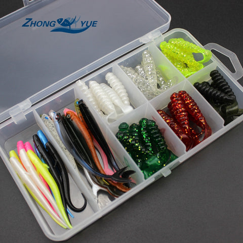 soft bait sea fishing lure set and Tackle Box