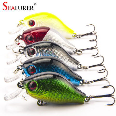 SEALURER Brand Crankbait Fishing Lure 5.5cm 8G High Quality Winter Wobbler VIB F