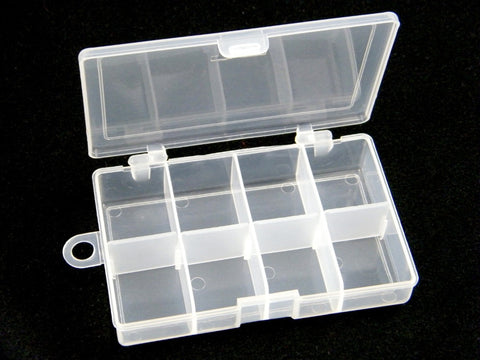 Plastic Fishing Tackle Box For Fishing Accessories Swivels Hooks 10 Slots