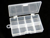Image of Plastic Fishing Tackle Box For Fishing Accessories Swivels Hooks 10 Slots