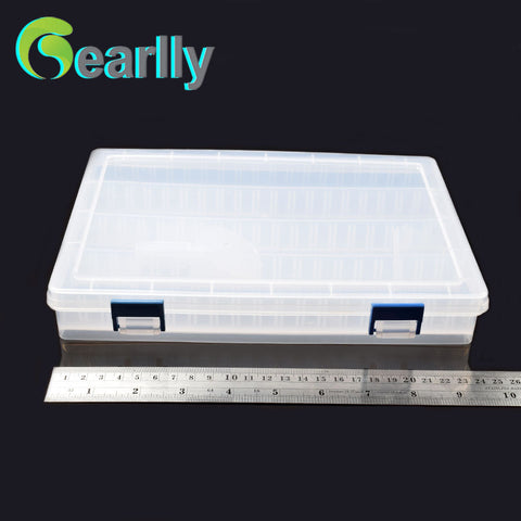 25*18*4cm Transparent Plastic Tackle Box