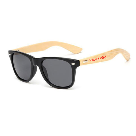 Custom Logo Bamboo Sunglasses