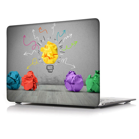 Light Bulb Pattern Hard Shell Cover For Macbook For Retina 12 A1534