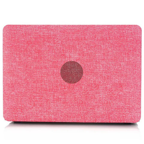 Luxury Jean Cloth & Hard Plastic Laptop Cover Macbook Pro 15 no Retina
