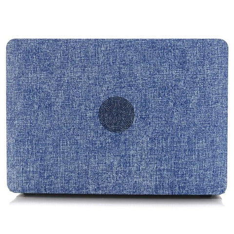 Luxury Jean Cloth & Hard Plastic Laptop Cover Macbook Pro 13 no Retina
