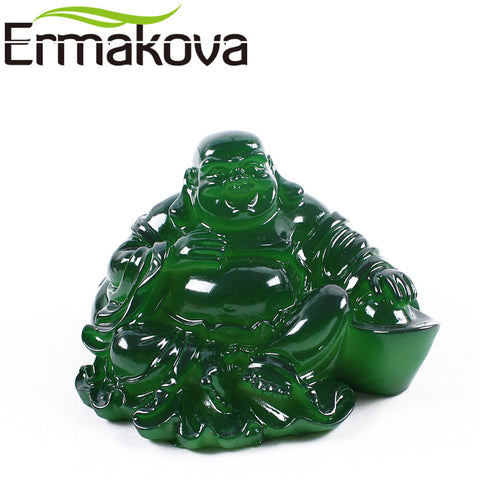 "ERMAKOVA 8cm(5.5"")Resin Color-Changing Statue Buddha Figurine Feng Shui Tea Pet"