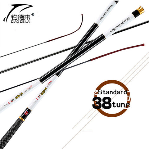 NEW Ultralight SuperHard 3.6/4.5/5.4/6.3/7.2 Meters Stream Hand Pole Carbon Fibe