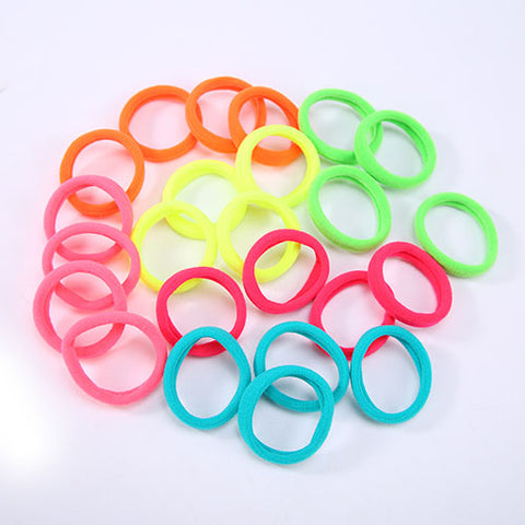 24 pcs/pack Hair Accessories Sale Multicolor Elastic Durable Band Hair Rope Felt