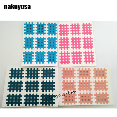 (10sheets/lot) high quality Spiral Cross Kinesiology Tape 3mm X 4mm 9pcs/sheet P