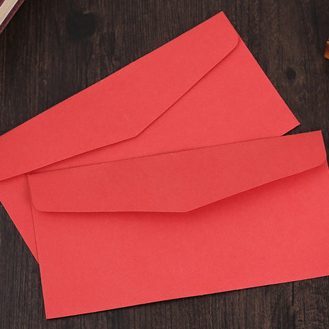 (10 pieces/lot) Simple Red Envelopes for Invitations Cards Letter Paper Vintage
