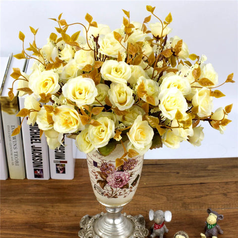 1 bouquet 7 forks 14 head 30cm Rose Artificial Flowers Simulation Silk Flower Pa