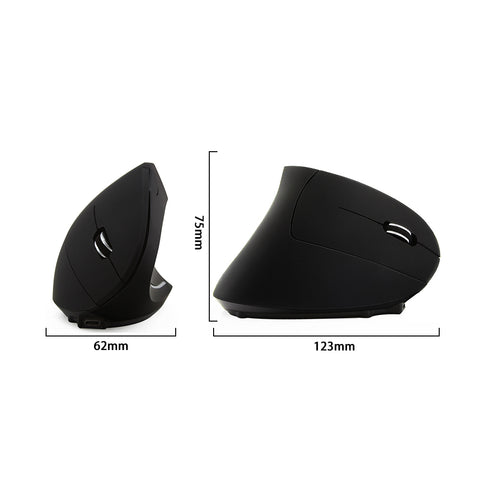 Wireless Vertical Mouse Ergonomic Micro USB Input Built-in Li-Lion Battery Wrist