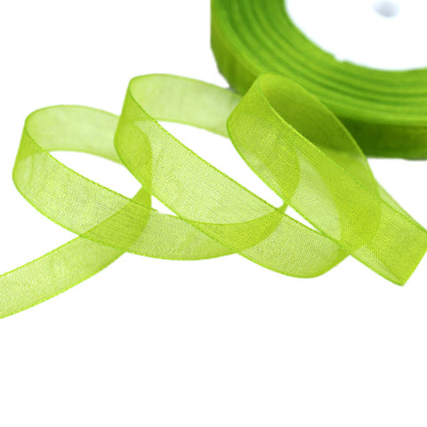 (50 yards/roll) 12mm organza ribbons wholesale gift wrapping decoration Christma
