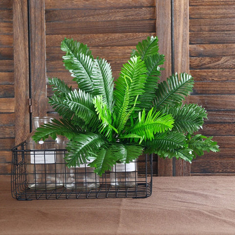 1 Bunch 18 Heads Artificial Silk Plants Cycas Palm Tree Garden Home Decoration