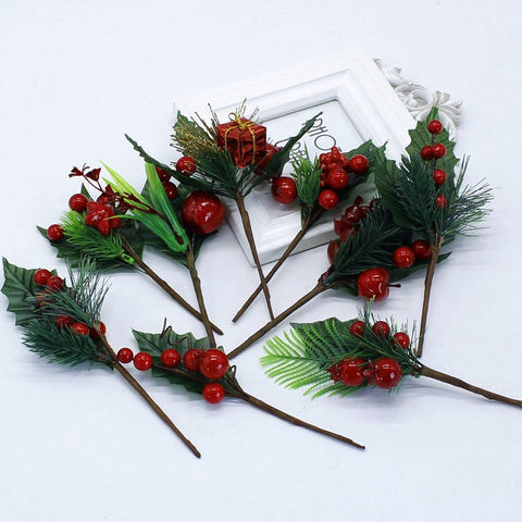 1 branch of Christmas tree decoration accessories artificial pine plant simulati
