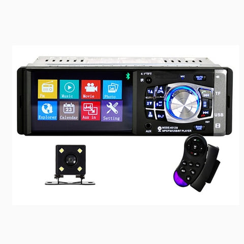 1 Din Car radio Auto 4.1'' HD Car Multimedia Player MP3 MP5 Audio Stereo Radio Bluetooth FM Remote Control Video Player