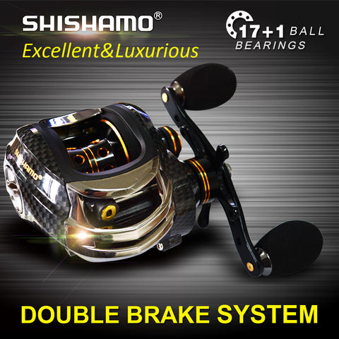 Double Brake Baitcasting Reel
