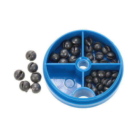 0.6/1/1.5/1.8g Removable Round Lead Split Shot Sinker Kit Set Open Pure Lead Wei