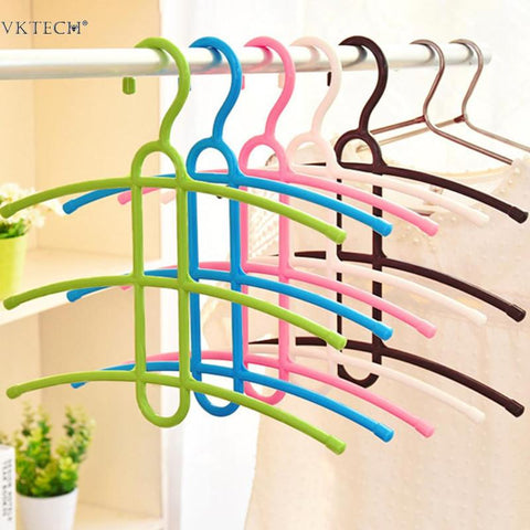 1 Multi-layer Clothes Hanger Creative Fishbone Anti-skid Clothing Towel Storage