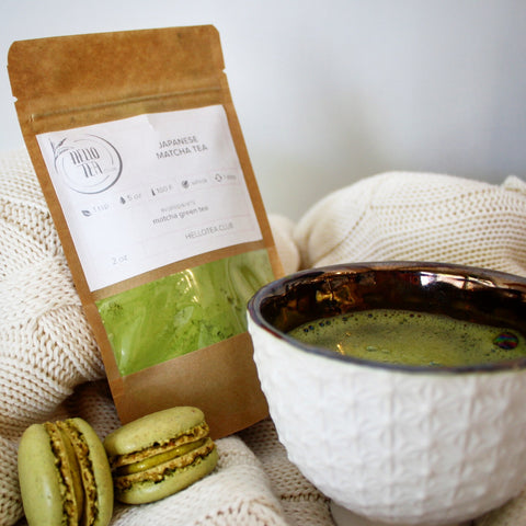 matcha green tea morning hello tea club