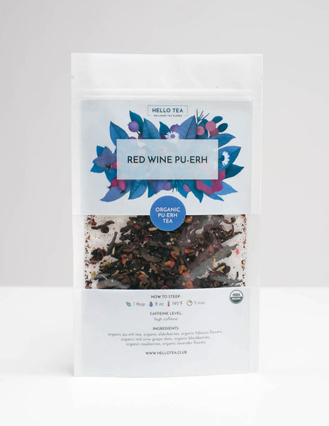 RED WINE PU-ERH - Hello Tea - Loose Leaf Tea