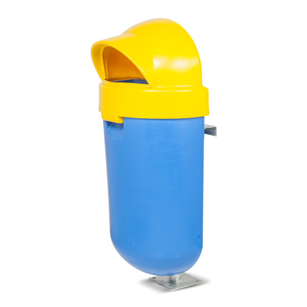 Prs1 Single Outdoor Litter Bin With Stand