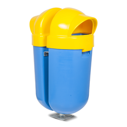 PRS2 DOUBLE OUTDOOR LITTER BIN (WITH STAND)