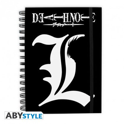 QUADERNO - DEATH NOTE - NOTEBOOK L LOGO
