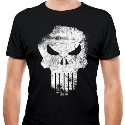 T-Shirt - Punisher - Distressed Skull