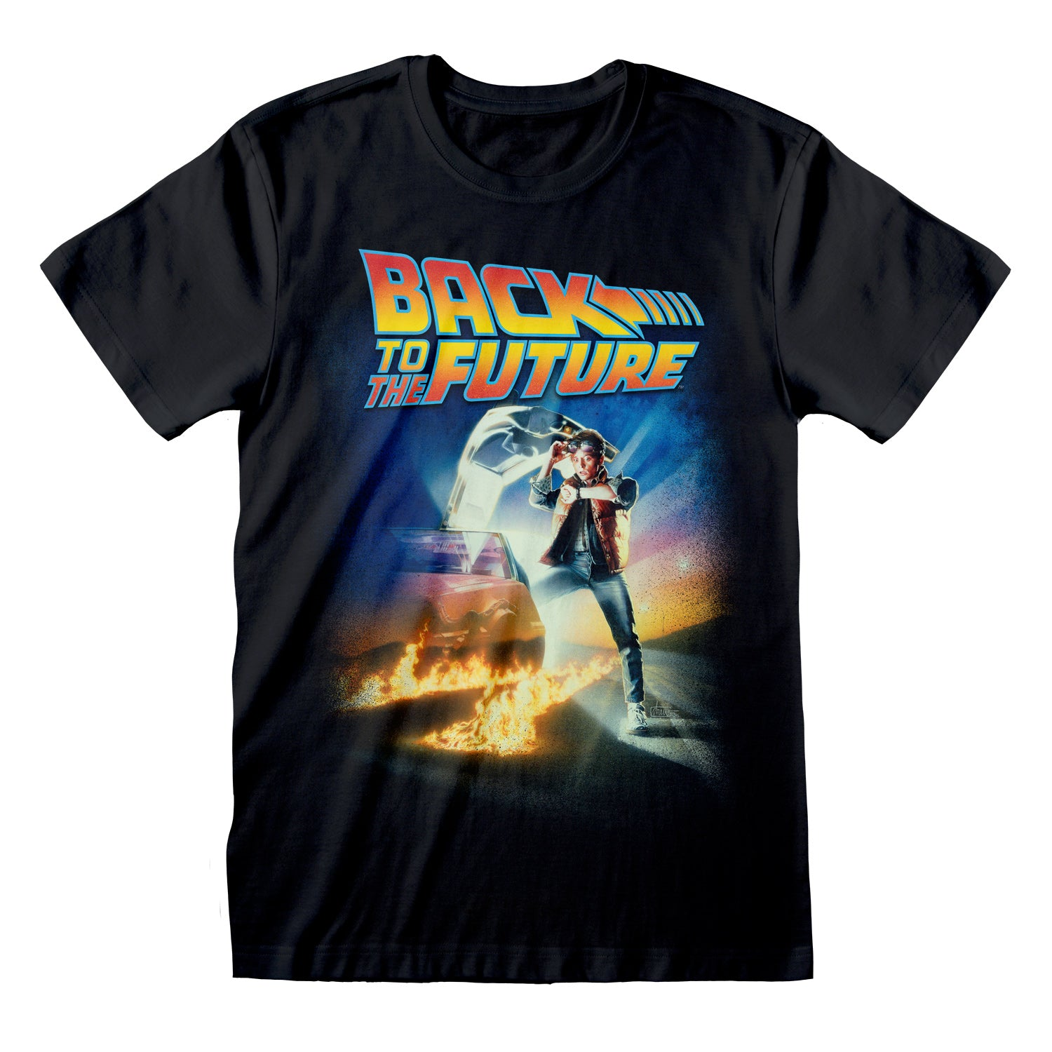 T-Shirt - Back To The Future - Poster Black