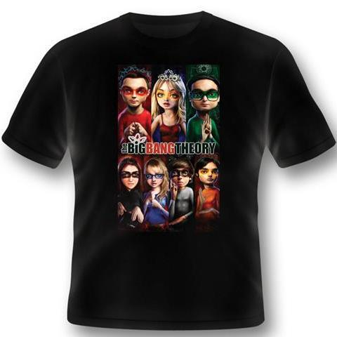 T-Shirt - Big Bang Theory - Superhero