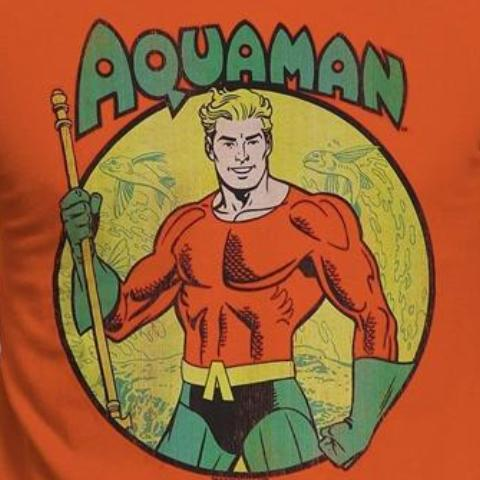 T-Shirt - Aquaman - All The Heroes Distressed