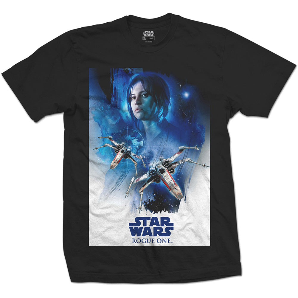 T-Shirt - Star Wars - Rogue One Jyn X-Wing 01 Black