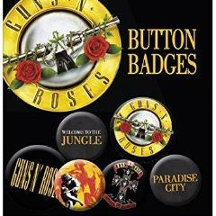 Spille - Guns N' Roses - Lyrics And Logos (Badge Pack)