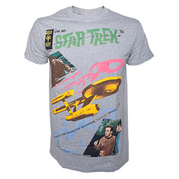 T-Shirt - Star Trek - Grey Melange Alien Invading