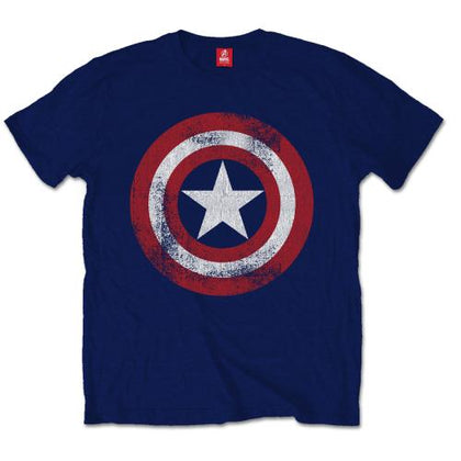 T-Shirt - Captain America - Distressed Shield