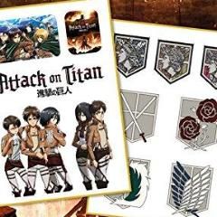 Tattoo - Attack On Titan - Logo'S And Characters (Temporary Tattoo)