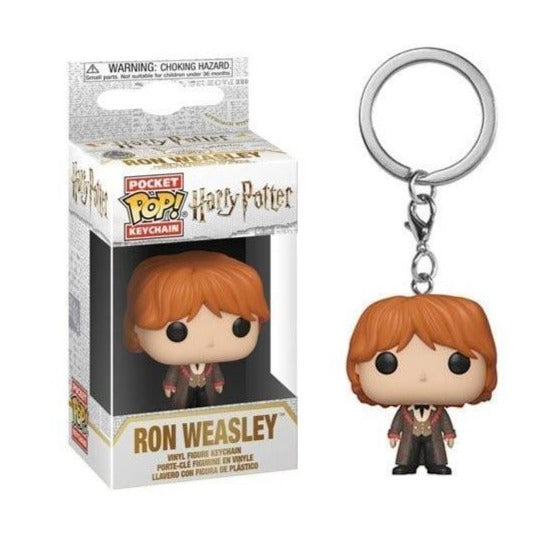 Portachiavi - Funko Pocket Pop - HARRY POTTER - RON (YULE BALL)