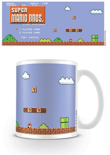 Tazza - Nintendo - Super Mario Retro Title