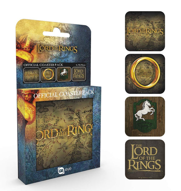 Sottobicchieri - Lord Of The Rings - Mix (Set 4 Sottobicchieri)