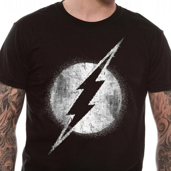 T-Shirt - Flash - Logo Mono Distressed