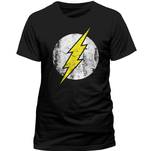 T-Shirt - Flash - Dc Comics - Distressed Logo