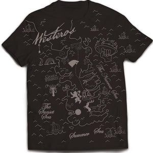 T-Shirt - Game Of Thrones - Westeros Map