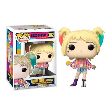 FUNKO POP - BIRDS OF PREY - HARLEY QUINN - (302)(CAUTION TAPE) 9CM