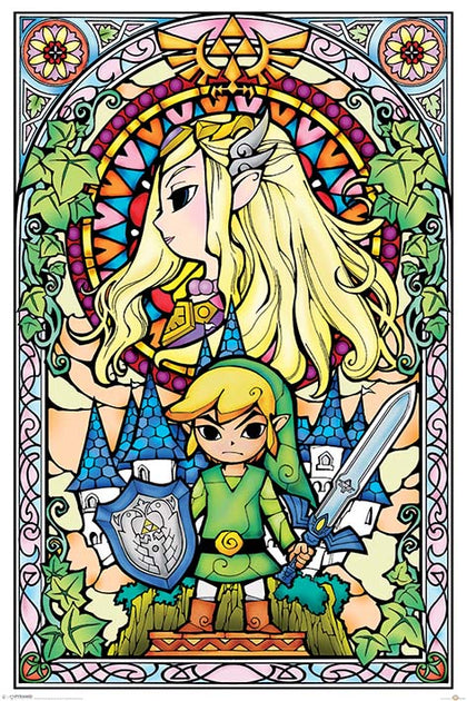 Poster - Legend Of Zelda - Stained Glass