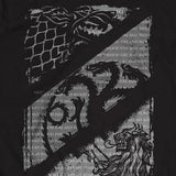 T-Shirt - Game Of Thrones - Wolves Dragons & Lions