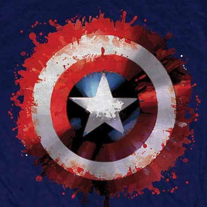 T-Shirt - Captain America - Splat Shield